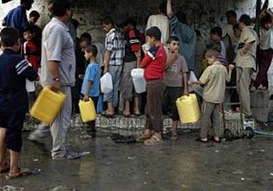 pals line up for aid, gaza 298 ap
