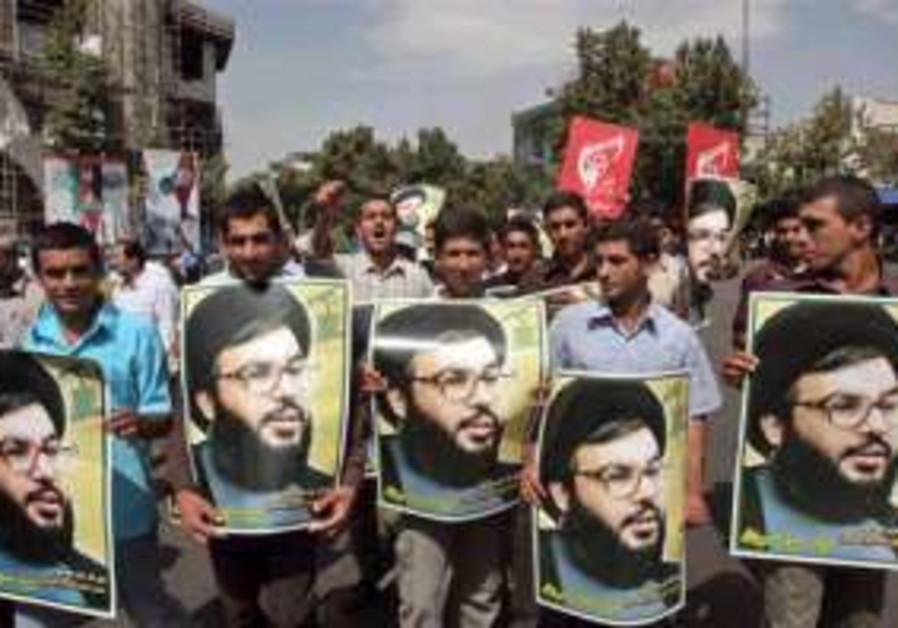 nasrallah posters in protest in iran 298.88