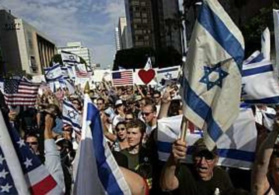 pro israel rally in la 298.88
