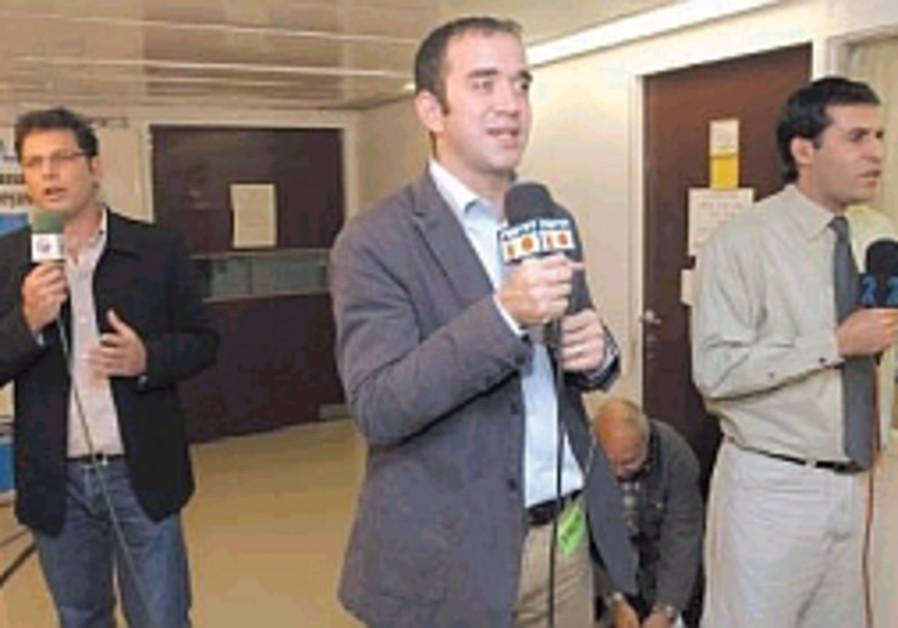 Israeli reporters on the job
