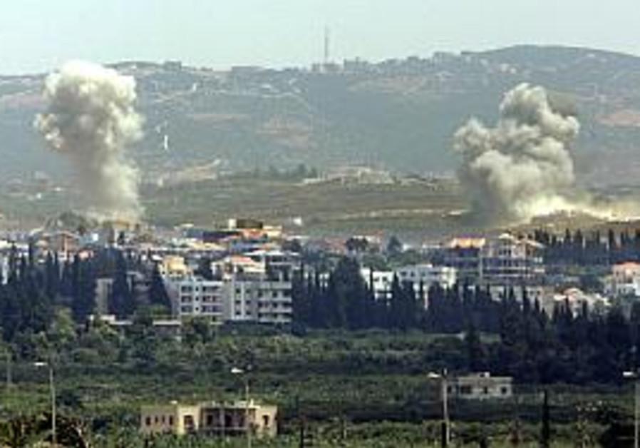 Air Force pounds Hizbullah hideouts