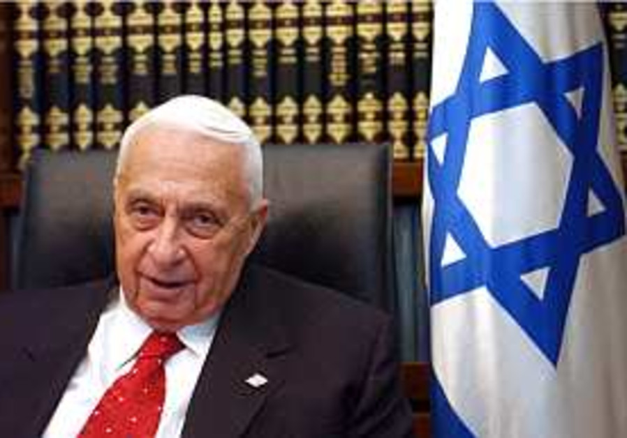 ariel sharon slumps chair flag 298.88