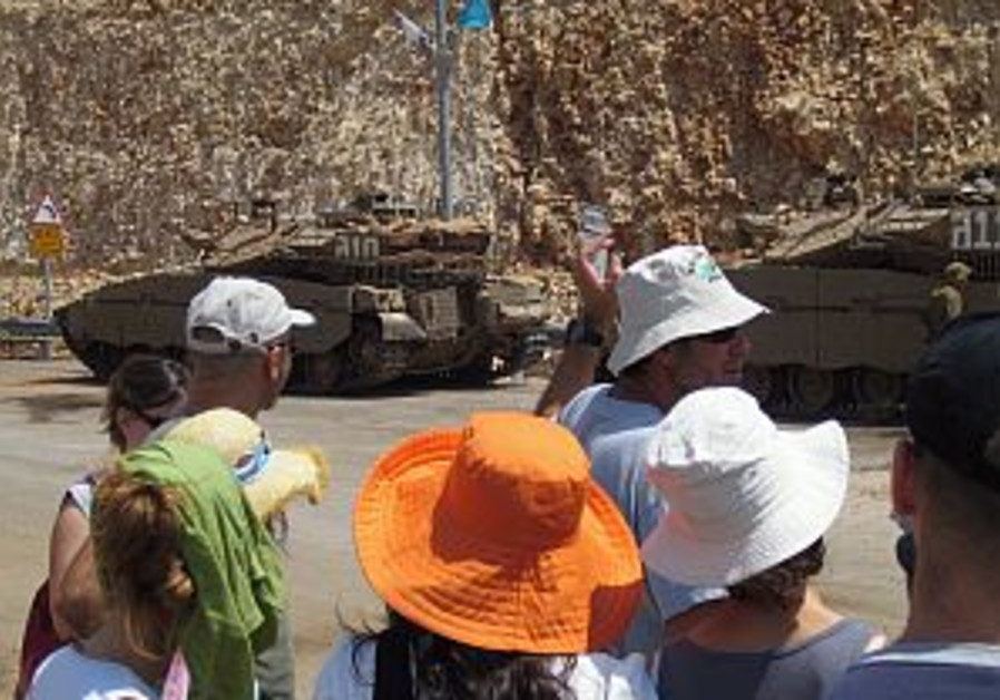 'Katyusha tours' take Tel Avivians to scene of the action