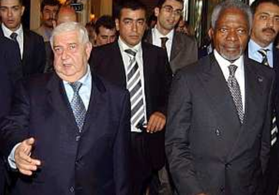 Annan: Syria to enforce arms embargo