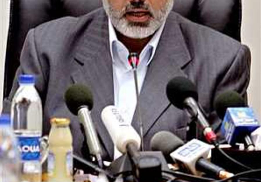 Haniyeh: Hamas gov't won't step down