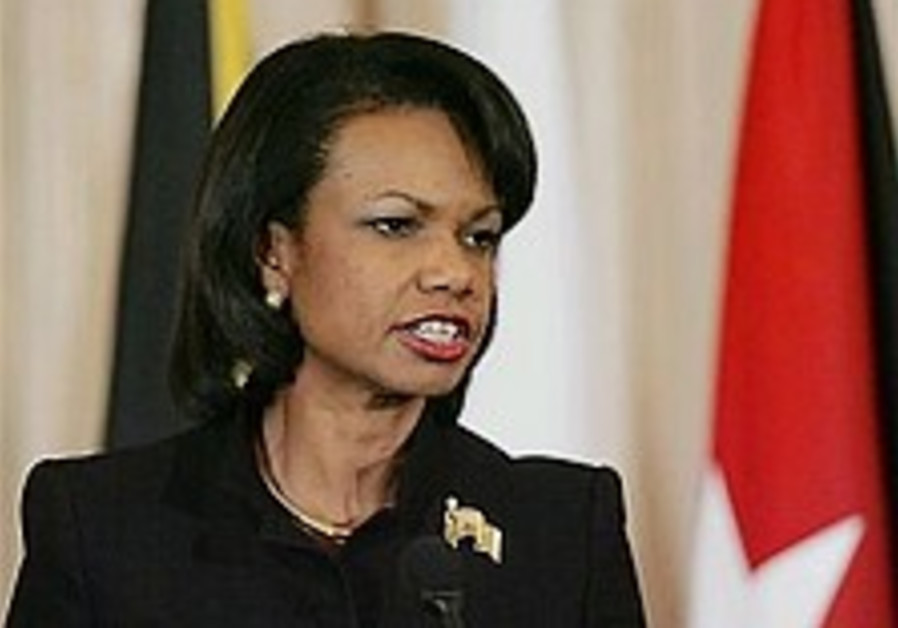 Rice rejects dialogue with Iran, Syria