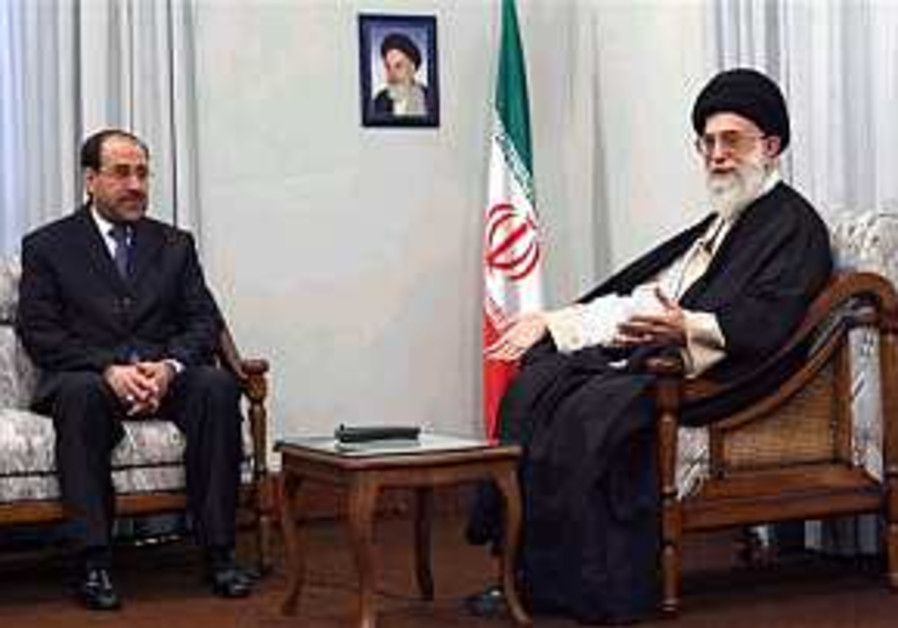 Iraqi Prime Minister Nouri al-Maliki arrives in Iran