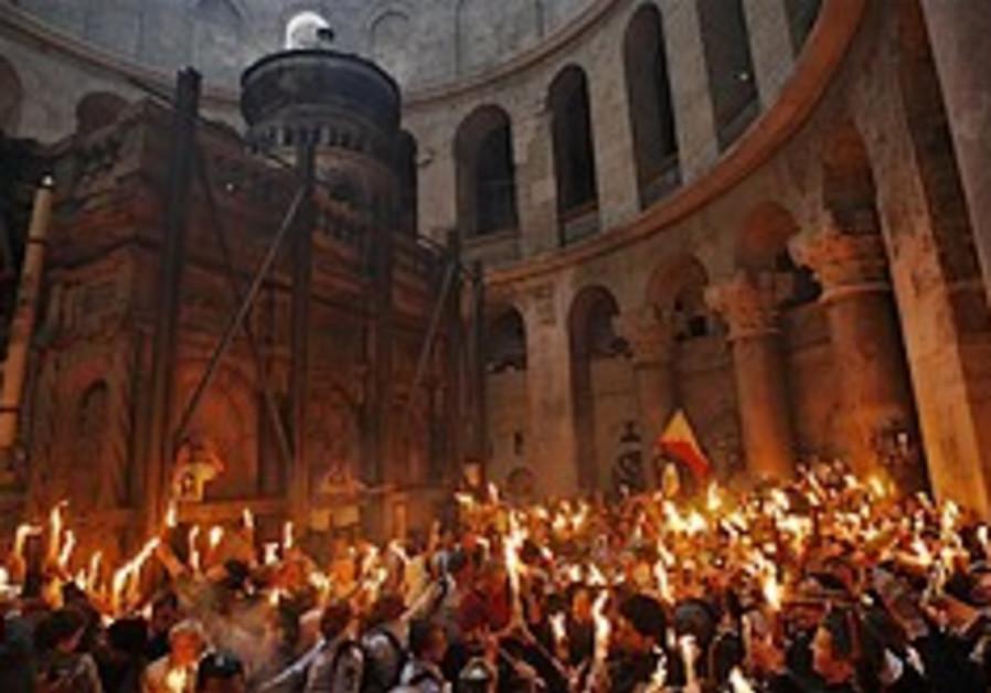 Orthodox celebrate 'holy fire' in J'lem