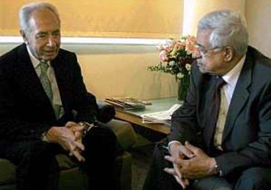 Peres presents preconditions to Abbas