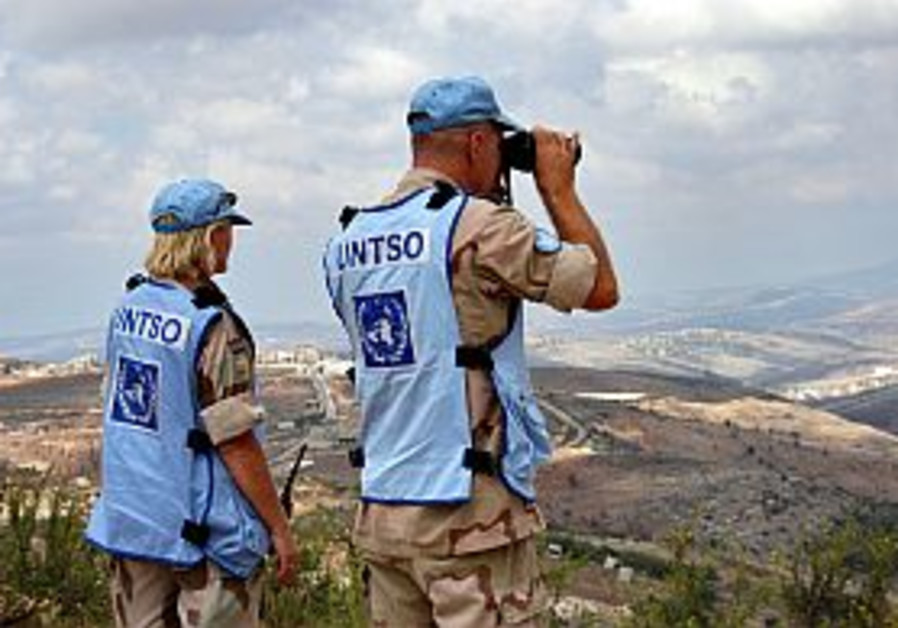 observers watching lebanon border