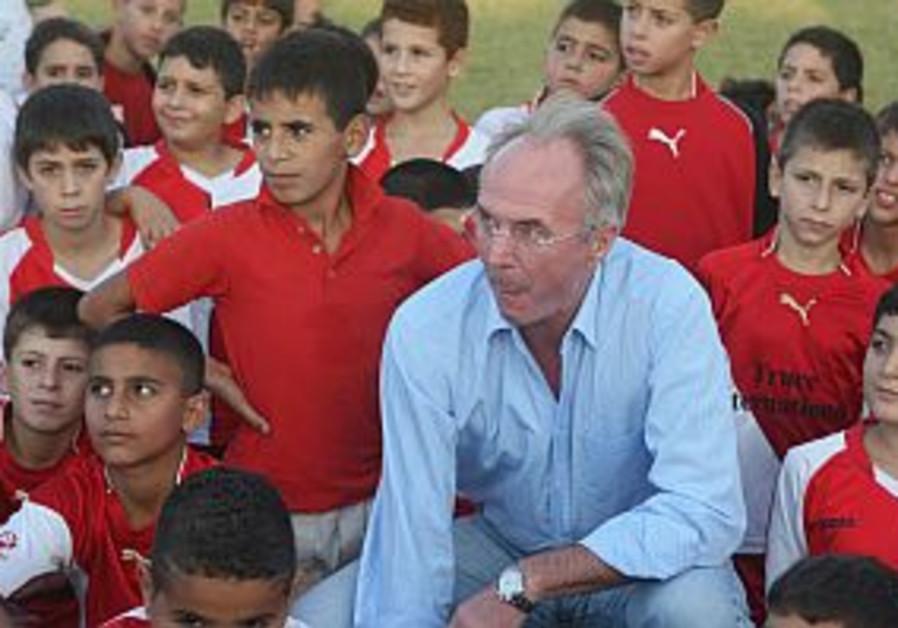 Sven Goran Eriksson in Israel for peace program