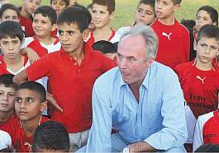 Sven-Goran Eriksson is a big hit in Kiryat Gat