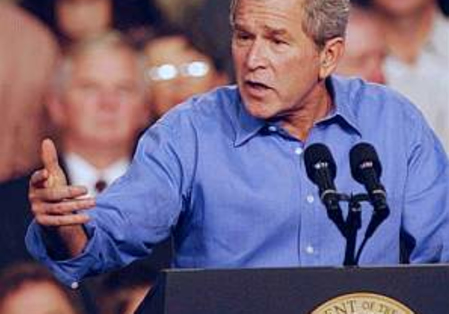 Analysis: Bush, Olmert reading from different scripts