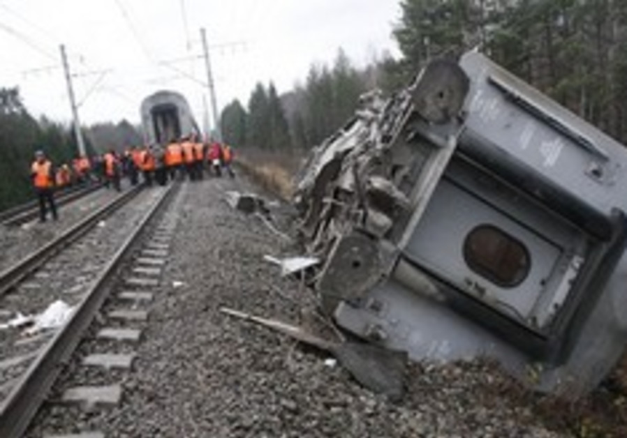 Russian train wreck