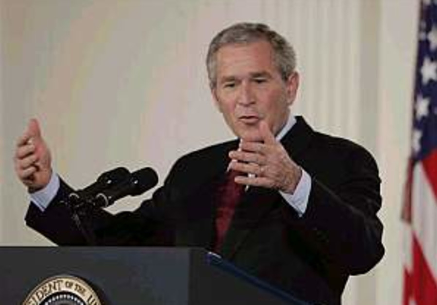 Bush downplays US interest in Iran war