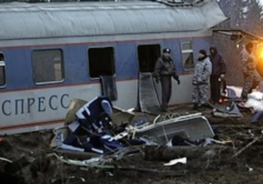 Russian train bomb