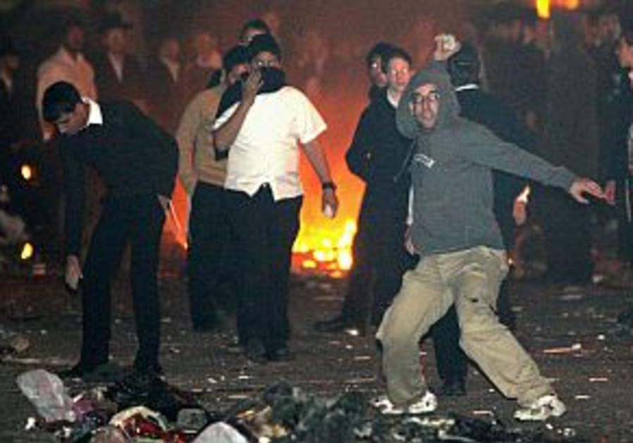 haredi anti gay riots in j'lem 298.88 aj