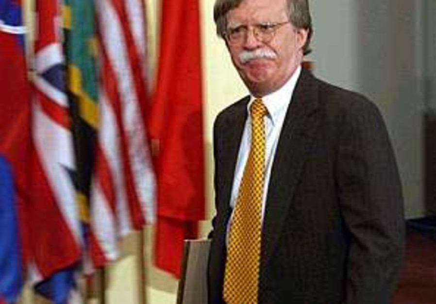 Israel sorry to see 'great friend' Bolton quit UN
