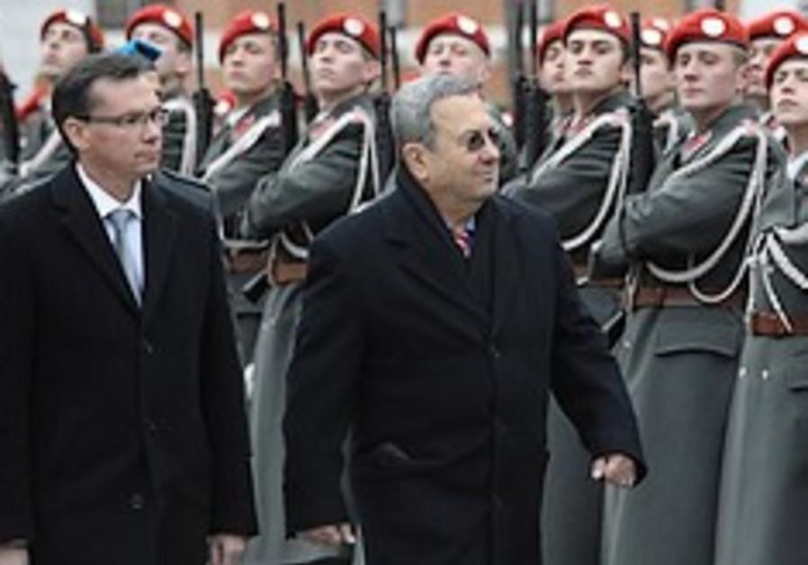 Barak in Austria with honor guard 248.88