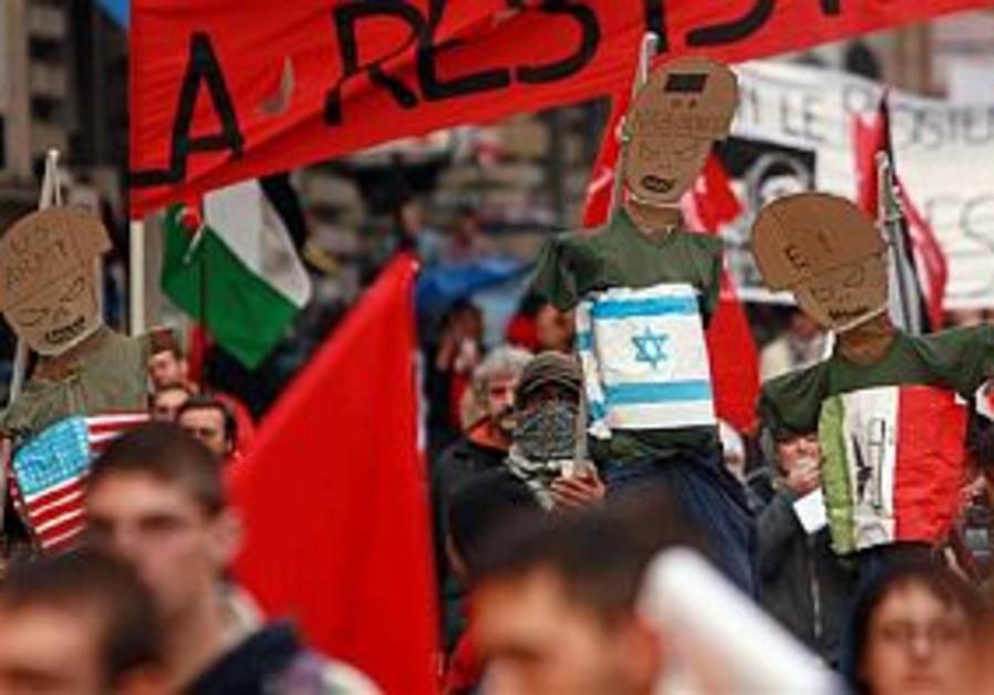 Far-Left anti-Israel rally in Italy backfires