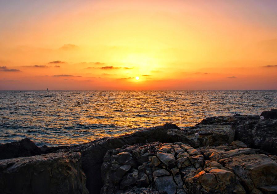 Sunset in Tel Aviv Israel