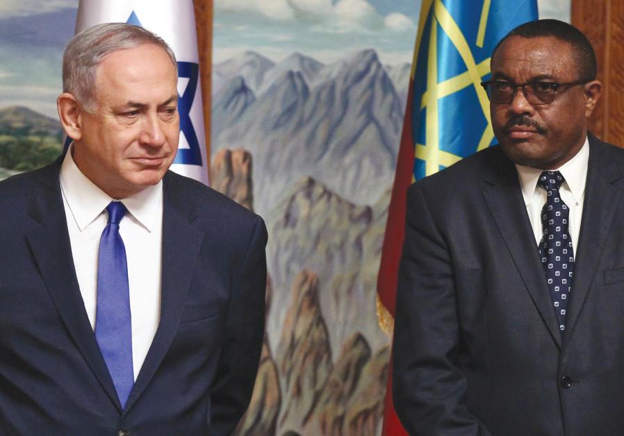 Prime Minister Benjamin Netanyahu Ethiopian Hailemariam Desalegn