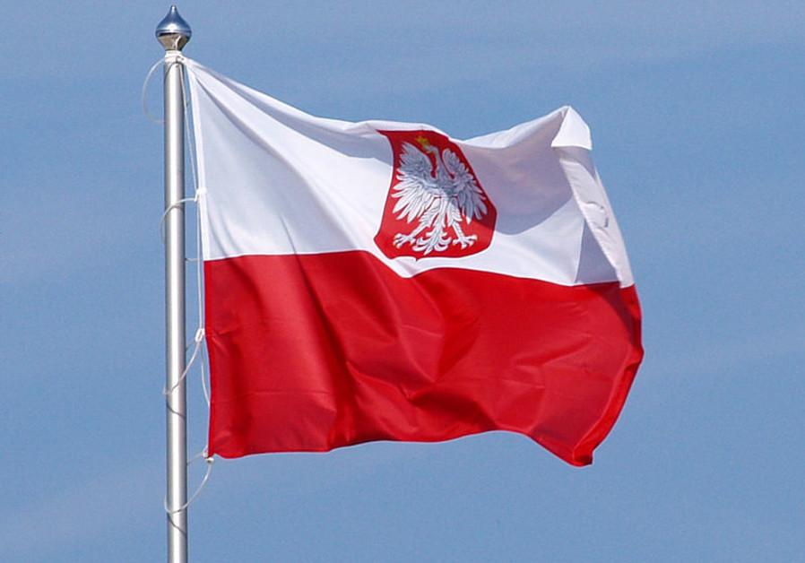 Flag of Poland, variant polish coat of arms.