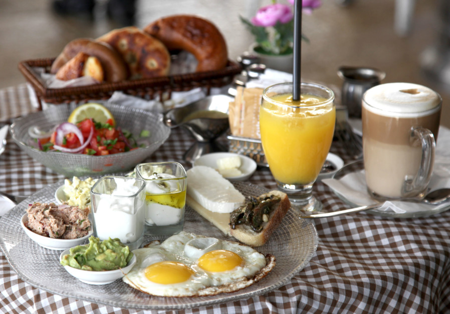 Breakfast at Cafe Rimon in Jerusalem Israel