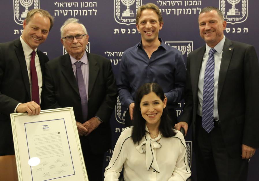 Elharrar, Folkmann win outstanding Knesset member award