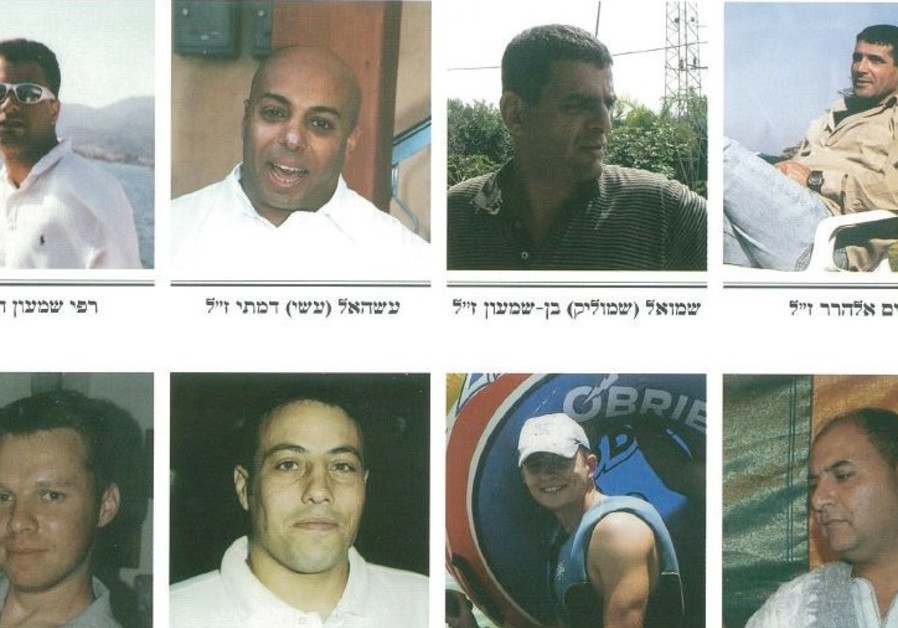 THESE EIGHT MEN were killed on July 16, 2006, when a Hezbollah rocket struck the Haifa train depot.