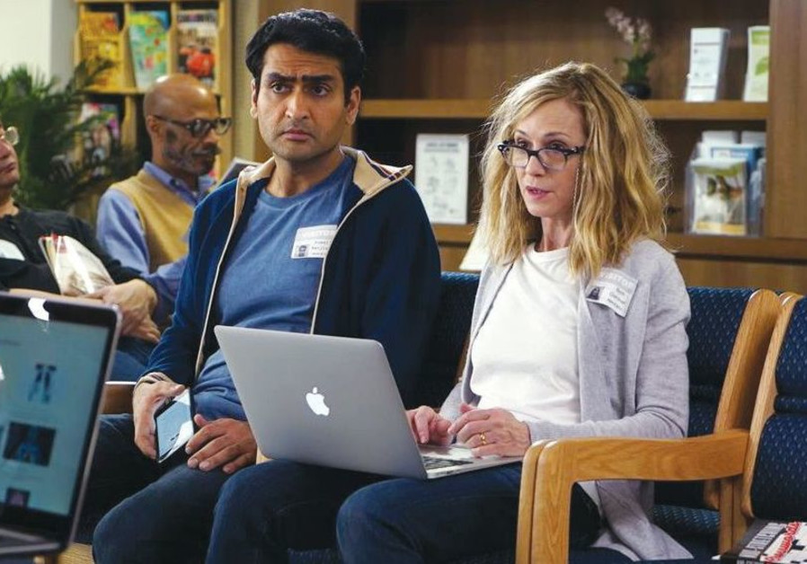 KUMAIL NANJIANI (left) and Holly Hunter in a scene from 'The Big Sick.'
