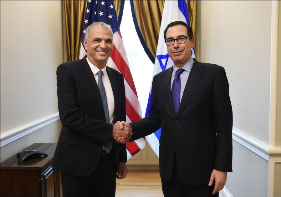 Finance Minister Moshe Kahlon and United States Treasury Secretary Steven Mnuchin