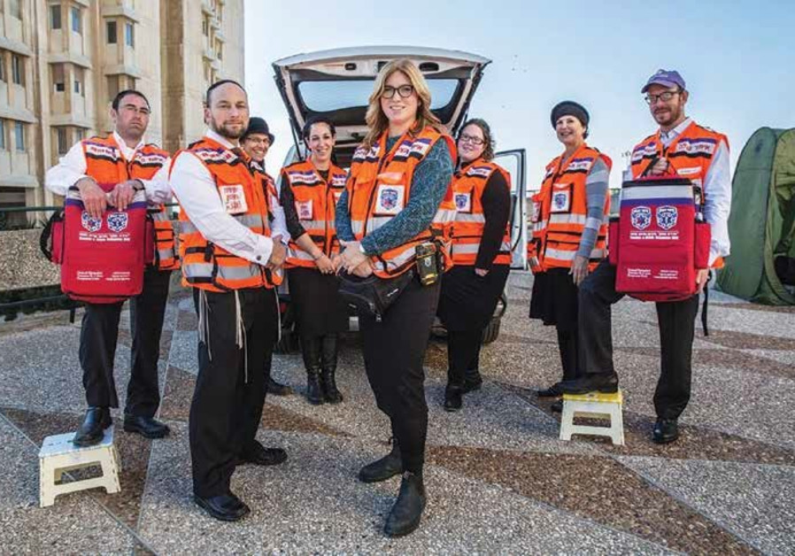 Members of United Hatzalah's Psychotrauma and Crisis Response Unit gather in Jerusalem.