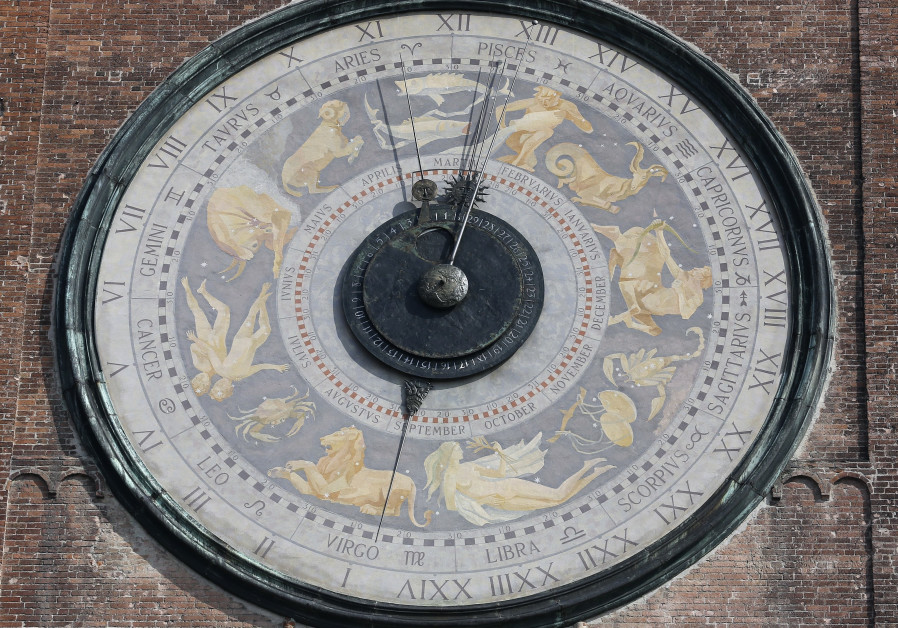 Italian Zodiac clock