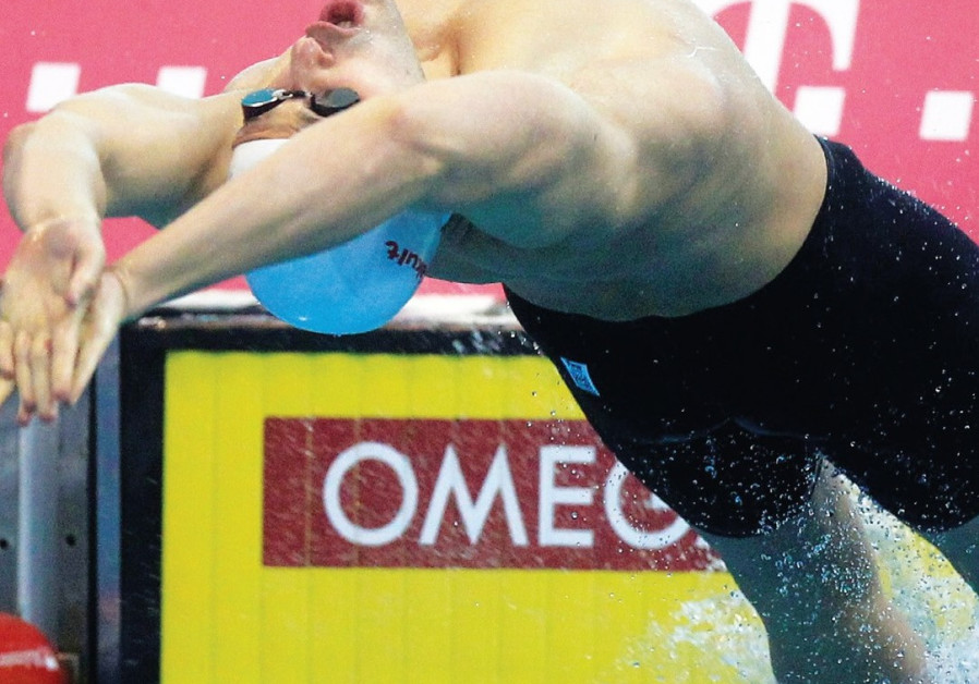 Israel's Kopelev finishes 8th in 50m back