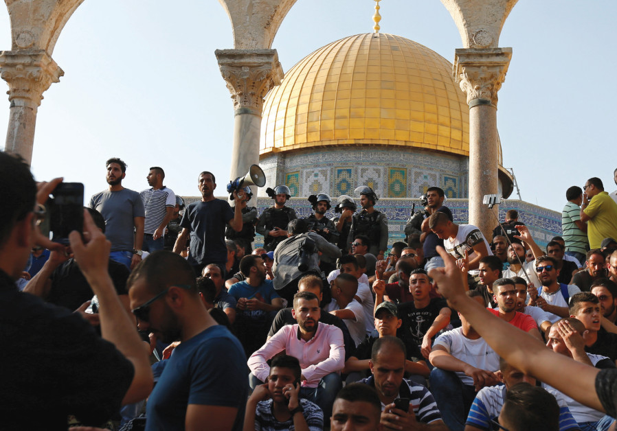 Protestors at the Temple Mount