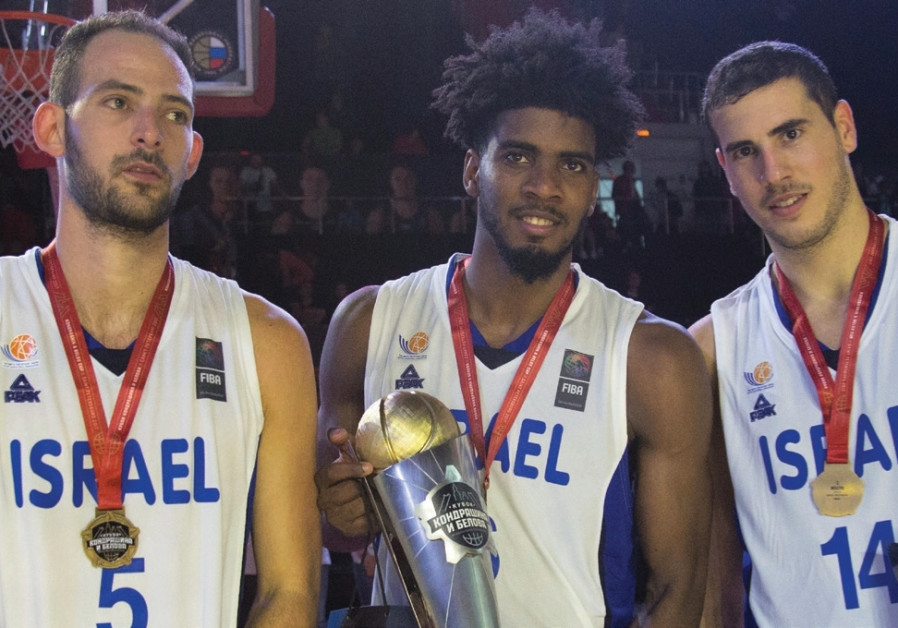 Israel national team players (from left) Amit Simhon, Shawn Dawson and Oz Blayzer