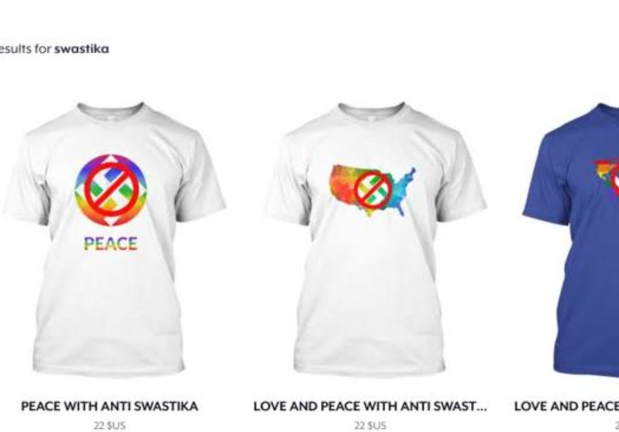 US T-shirt company swaps swastika designs with anti-swastika items