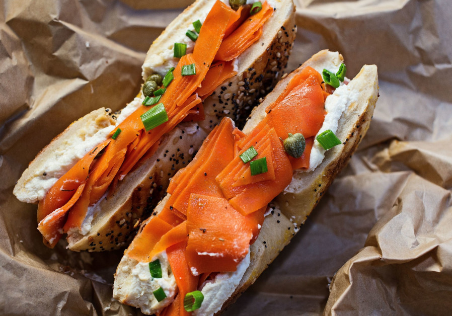 """Bagel and """"cream cheese and lox."""""""