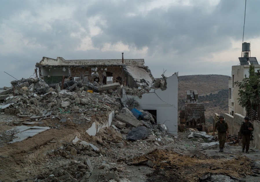 IDF demolition of terrorists' houses, August 9, 2017.
