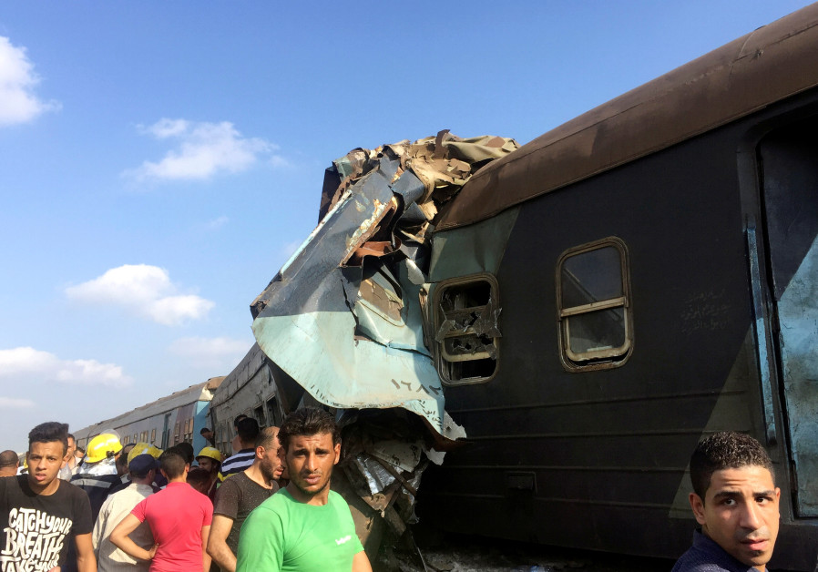 Train crash in Egypt kills dozens, injures more than 100 people
