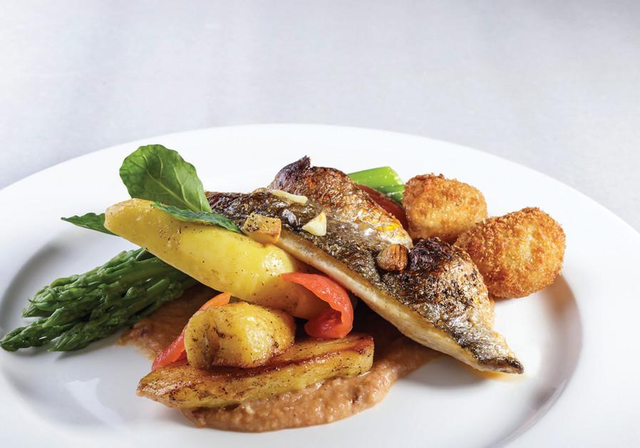 Fish Dish at Tishbi Winery.