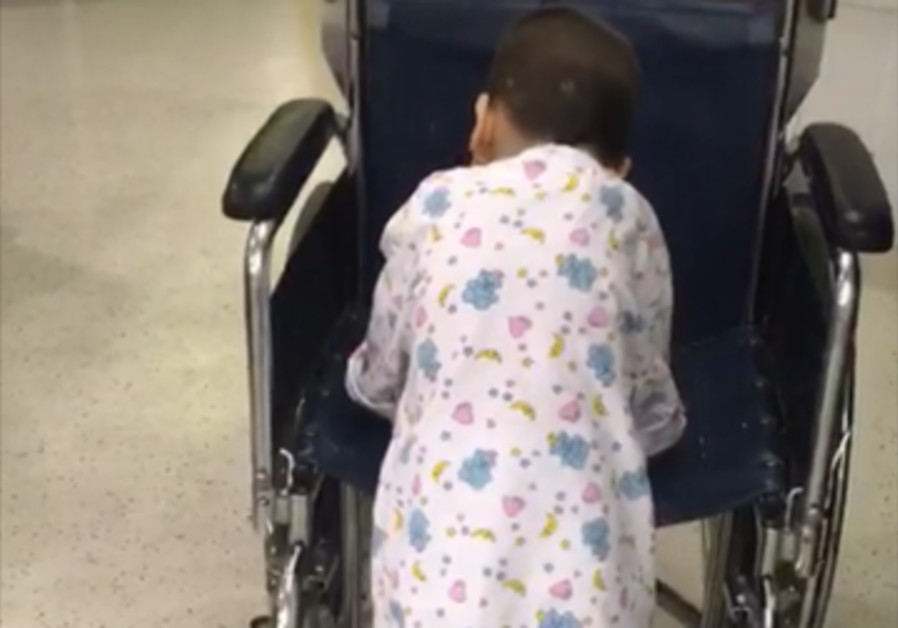 Four-year-old Sliman takes first steps after successful surgery