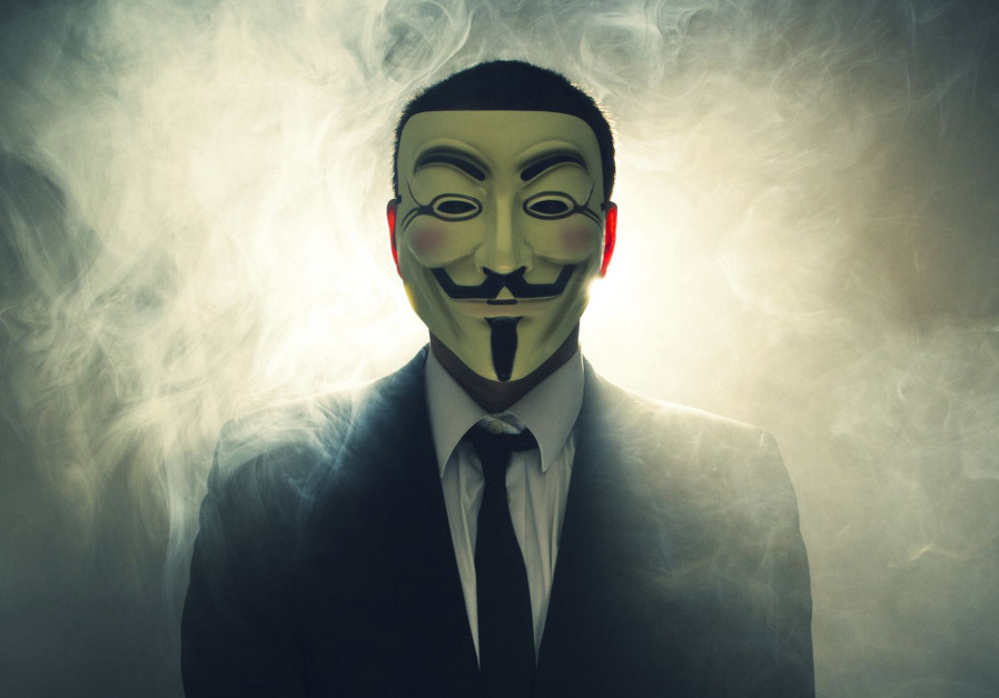The masked face of international hacker Anonymous
