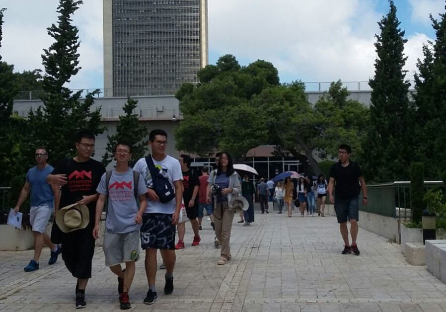 Chinese students visiting Haifa University