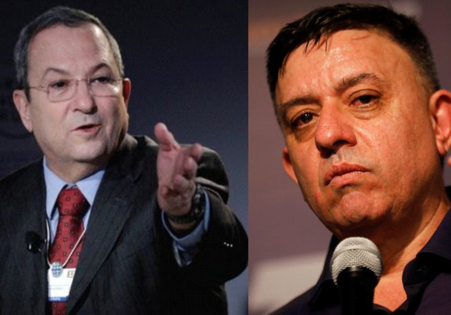 Former prime minister and Labor chairman Ehud Barak and current party leader Avi Gabbay
