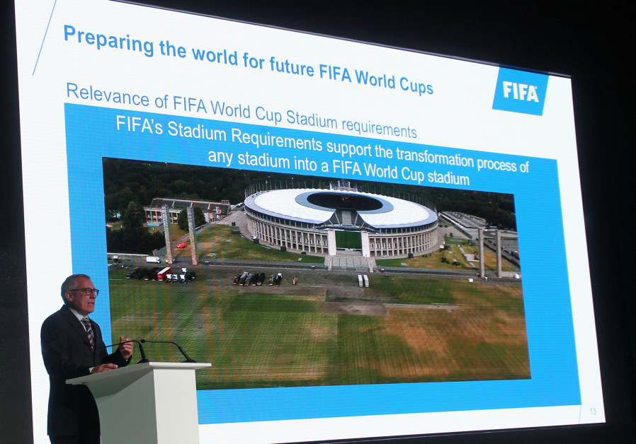 Jurgen Muller, Head of Planning and Infrastructure and Head of FIFA World Cup 2022, speaks during Wo