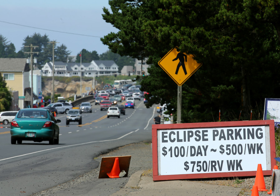 The small town of Depoe Bay, Oregon prepares for the coming Solar Eclipse