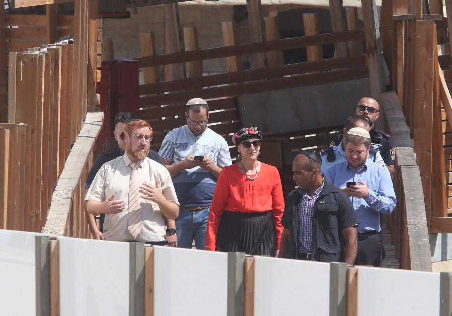 MK Yehuda Glick leaving Temple Mount, August 23, 2017.