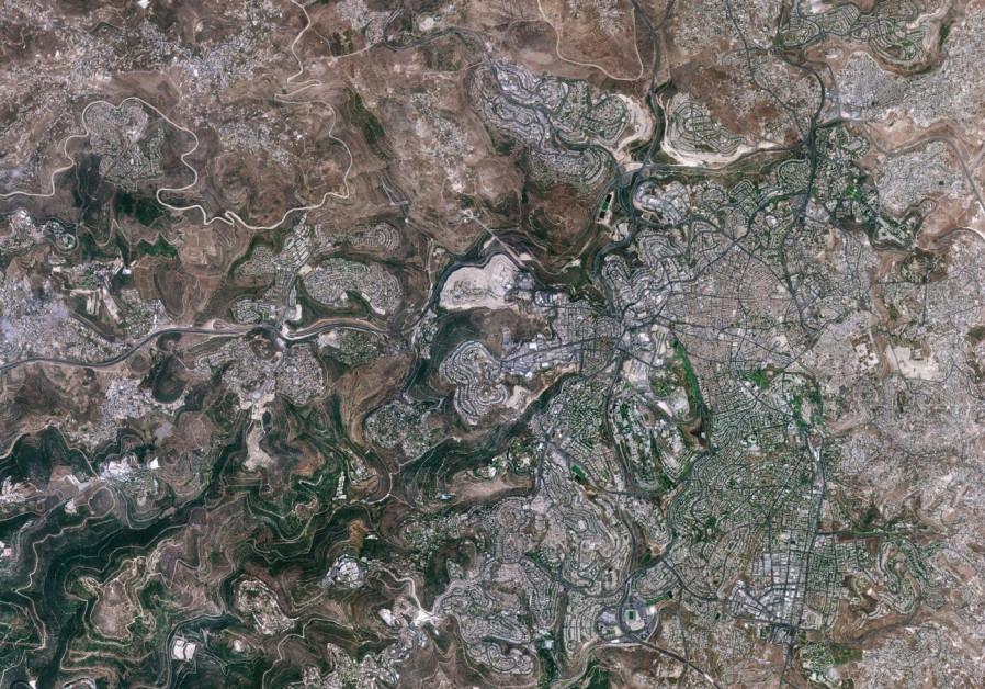 Jerusalem as seen by the Venus satellite